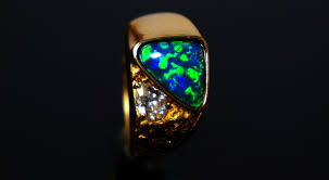 black opal file black opal ring with gold nuggets jpg wikimedia commons