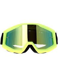 mirrored motocross goggles 100 percent neon yellow mirror gold strata mx goggle 100 percent