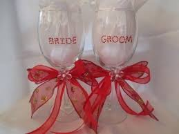 Wine Glass Decorating Ideas Bride U0026 Groom Wine Glass Youtube