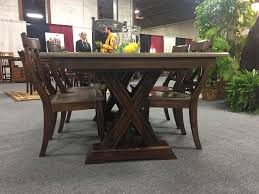 Amish Dining Room Chairs Knoxville Trestle Table From Dutchcrafters Amish Furniture