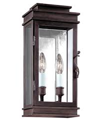 Lantern Wall Sconce Troy Lighting B2971 Vintage 7 Inch Wide 2 Light Outdoor Wall Light