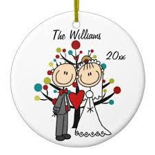 personalized ornaments wedding wedding 1st christmas personalized ornament wedding