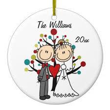 wedding 1st christmas personalized ornament wedding