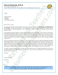 cover letter teachers cover letter sle