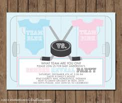 thanksgiving gender reveal ice hockey gender reveal party invitation printable choose