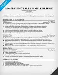 Sales Executive Resume Samples by Resume Advertising Sales