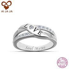 wedding rings with names aliexpress buy aijaja 925 sterling silver personalized
