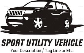car logo black and white suv car logo template by yokoz graphicriver