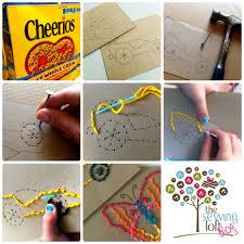 kids u0027 craft camp simple stitch cards for kids making lemonade