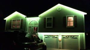 Lights In Soffit Outside by Installed Rgb Led Strip Christmas Light Demonstration Youtube