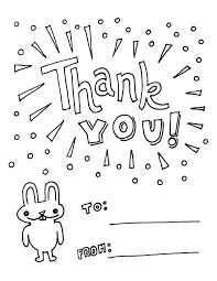 easy printables thank you card coloring pages 21542