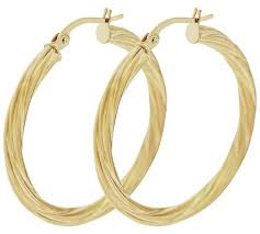 9ct gold hoop earrings buy bracci 9ct gold 30mm twist hoop earrings at argos co uk your