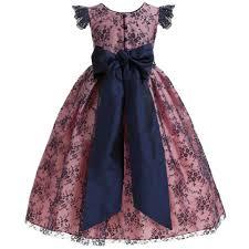 macfarlane pink u0026 blue lace u0027beatrice u0027 ballerina length dress