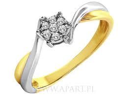 apart pierscionki pierścionek apart pierścionki zaręczynowe apart z żółtego złota