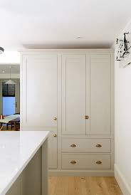 shaker style kitchen pantry cabinet a beautiful shaker pantry cupboard with integrated fridge