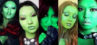 Green Halloween Costume Green Halloween Diy Gamora Makeup