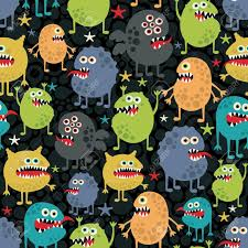 halloween cute wallpaper cute monsters seamless texture with stars royalty free cliparts