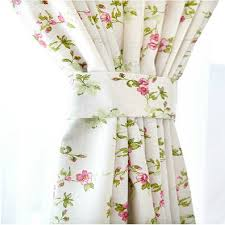 country style white country curtains of pink flower patterns