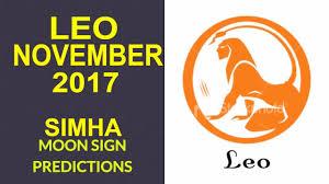 2017 horoscope predictions leo simha rashi monthly horoscope for november 2017 leo