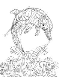 dolphin coloring pages pdf dolphin coloring page adult coloring sheet nautical coloring