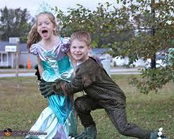 Mermaid Halloween Costumes Kids Swamp Monster Catches Mermaid Halloween Costumes Kids