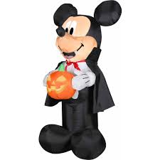 Vampire Decorations For Halloween 4 U0027 Airblown Outdoor Mickey Vampire W Pum Walmart Com