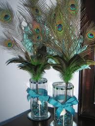 peacock centerpieces diy peacock feather centerpieces for a
