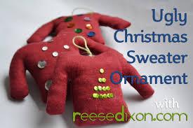 Ugly Christmas Ornament Christmas Diy Ugly Christmas Sweater Ornament Youtube