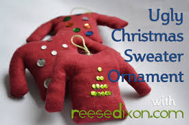 christmas diy ugly christmas sweater ornament youtube