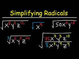 simplifying radicals with variables exponents fractions cube