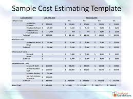 estimating building costs cost estimate sle pertamini co