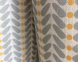 Yellow Gray Curtains Yellow Grey Curtains Etsy