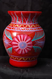 Mexican Pottery Vases Antiques Art Vintage