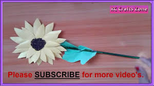 how to make paper sun flower in easy steps youtube