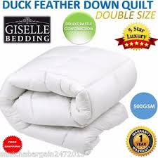 Duck Down Duvet Double Giselle 5 Star Bedding Duck Feather Down Quilt Duvet Blanket Bed