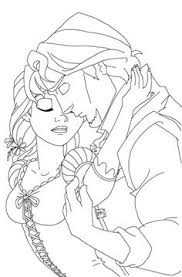 coloring pages rapunzel flynn wedding coloring pages coloring