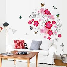 popular floor print art buy cheap lots from pink flower fairy beautiful colorful butterfly wall stickers kids room home decor creative gift print