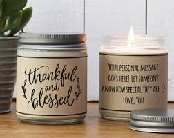 thanksgiving gift hostess gift thanksgiving thankful candle