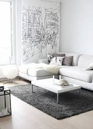 White Sofa Living Room Ideas Grey And White Living Room Completed With Modern White Sofa Hupehome