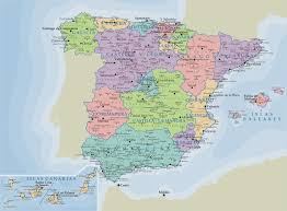 Map Of Morocco And Spain by Detailed Administrative Map Of Spain With Major Cities Vidiani