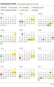 Calendario 2018 Feriados Portugal Feriados 2018 Cómo Quedaría El Calendario Año Con Puentes