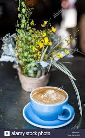 Beautiful Coffee Cups Cup Coffee Beautiful Spring Flowers Stock Photos U0026 Cup Coffee