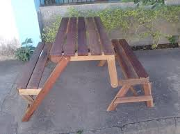 Plans For Picnic Table With Attached Benches by Diy Fold Able Pallet Bench U2013 Picnic Table