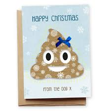 funny poo emoji christmas card u0027from the dog u0027 uk