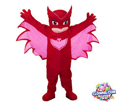 pj mask owlette character york kids party clowns