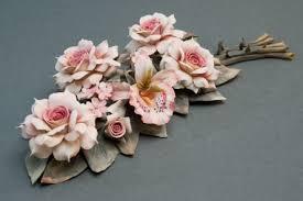 capodimonte roses capodimonte porcelain centerpiece urania