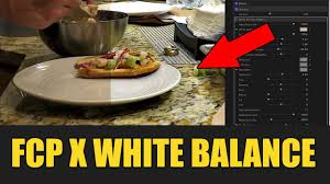 balance cuisine pro how to white balance in cut pro color correction plugin