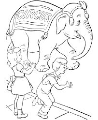 circus coloring page parade circus elephant themafeest circus