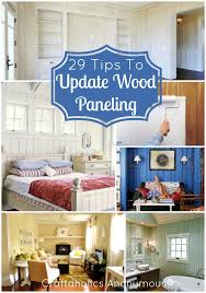 update wood paneling craftaholics anonymous how to update wood paneling