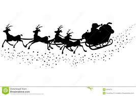 25 santa sleigh silhouette ideas reindeer